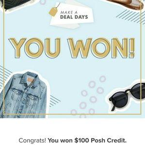 Other - ⭐ I won $100 Posh credit! ⭐
